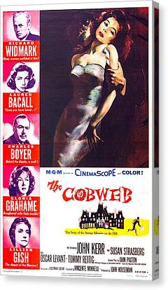 The Cobweb, Us Poster, Left From Top Canvas Print by Everett