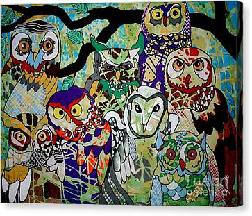 The Color Of Owls Canvas Print by Amy Sorrell