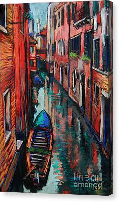 The Colors Of Venice Canvas Print by Mona Edulesco