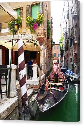 The Colors Of Venice Canvas Print by Irina Sztukowski