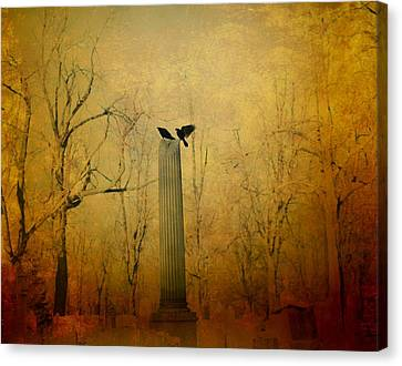 The Column Canvas Print by Gothicolors Donna Snyder