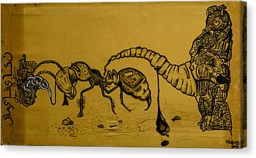 The Conception Of Picasso And Dali Canvas Print by Nickolas Kossup