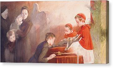 The Confirmation Canvas Print by Henri Jules Jean Geoffroy