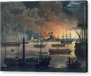 The Conflagration Of Dalla Canvas Print by Joseph Moore