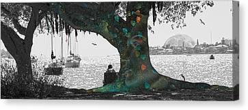 The Conscious Tree Canvas Print by Betsy C Knapp