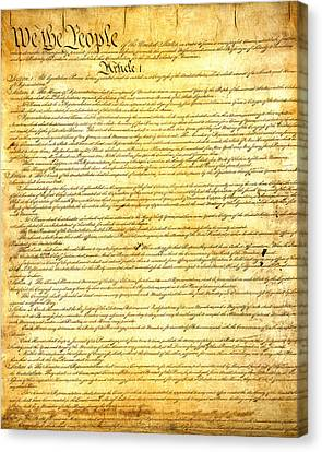 The Constitution Of The United States Of America Canvas Print by Design Turnpike