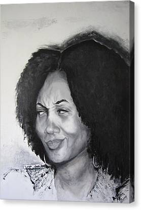 The Conversation 2 Of 2 Canvas Print by Roberta Rainey