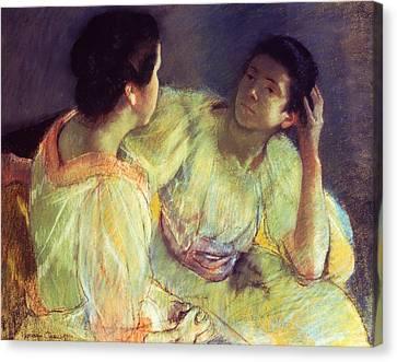 The Conversation Canvas Print by Mary Stevenson Cassatt