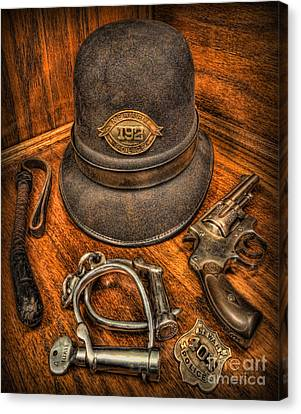 The Copper's Gear - Police Officer Canvas Print by Lee Dos Santos