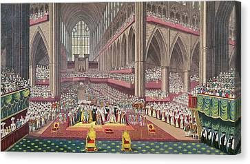 The Coronation Of King William Iv And Queen Adelaide, 1831 Colour Litho Canvas Print by English School