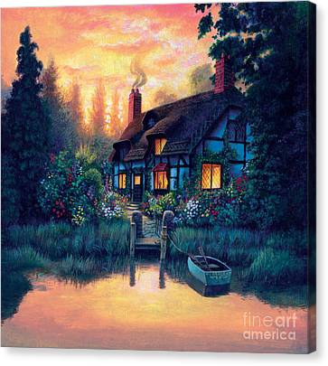 The Cottage Canvas Print by MGL Studio - Chris Hiett