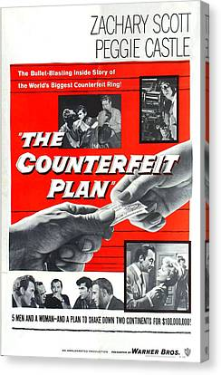 The Counterfeit Plan, Us Poster, Bottom Canvas Print by Everett
