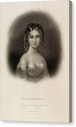 The Countess Teresa Guiccioli Canvas Print by British Library