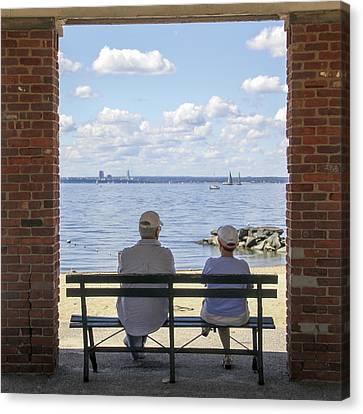 The Couple Canvas Print by Bob Slitzan