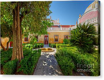 The Courtyard Garden Canvas Print by English Landscapes