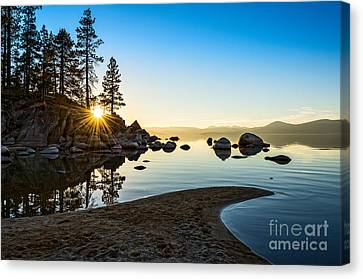 The Cove At Sand Harbor Canvas Print by Jamie Pham