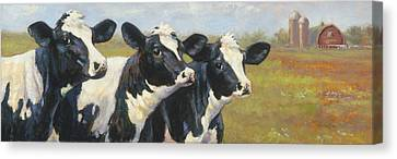 The Cow Girls Canvas Print by Tracie Thompson