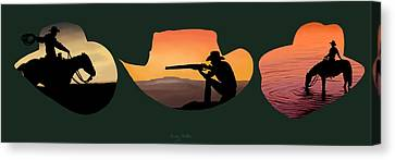 The Cowboy Way Canvas Print by Brien Miller