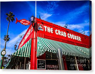 The Crab Cooker Newport Beach Photo Canvas Print by Paul Velgos
