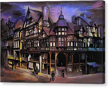The Cross And Rrows Chester England Canvas Print by Andrzej Szczerski
