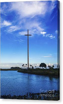 The Cross Marks The Spot Canvas Print by Diane Macdonald