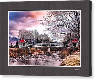 The Crossing II Brenton Woods Nh Canvas Print by Tom Prendergast