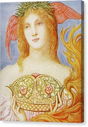 The Crown Of Peace Canvas Print by Sir William Blake Richmond