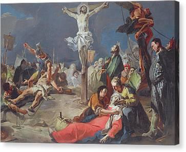 The Crucifixion Canvas Print by Giovanni Battista Tiepolo
