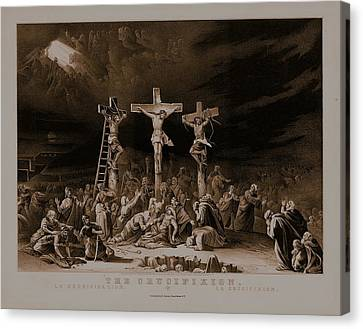 The Crucifixion / La Crucificazion / La Crucifixion  Canvas Print by N Currier the Firm