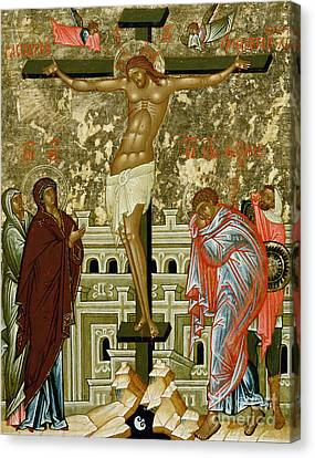 The Crucifixion Of Our Lord Canvas Print by Novgorod School