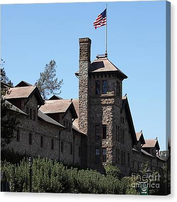 The Culinary Institute Of America Greystone St Helena Napa California 5d29498 Square Canvas Print by Wingsdomain Art and Photography