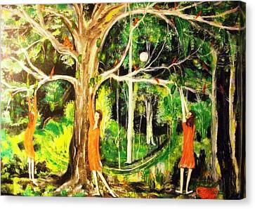 The Custard Apple Tree Canvas Print by Catherine Walker