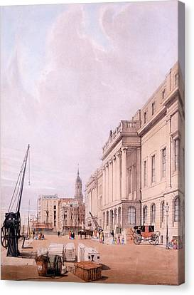 The Custom House, From London Canvas Print by Thomas Shotter Boys