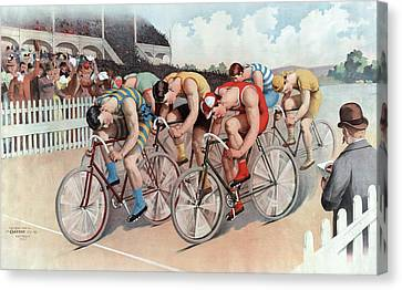 The Cycle Race Canvas Print by American School