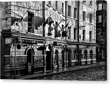 The Czech Inn - Dublin Ireland In Black And White Canvas Print by Bill Cannon