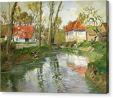 The Dairy At Quimperle Canvas Print by Fritz Thaulow
