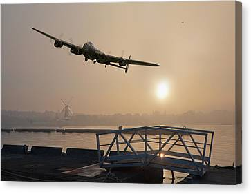 The Dambusters - Last One Home Canvas Print by Gary Eason