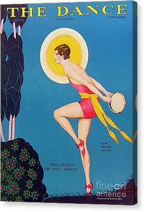 The Dance  1929 1920s Usa Ruby Keeler Canvas Print by The Advertising Archives
