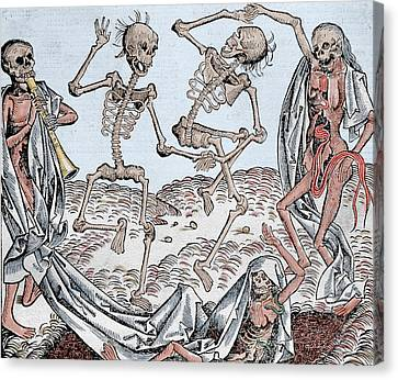 The Dance Of Death Canvas Print by Michael Wolgemut