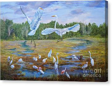 The Dance Of Life Canvas Print by AnnaJo Vahle