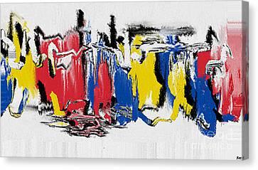 The Dance Canvas Print by Roz Abellera Art