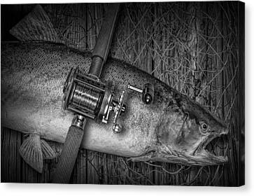 The Day's Catch Canvas Print by Randall Nyhof