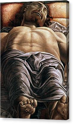 The Dead Christ Canvas Print by Andrea Mantegna