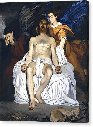 The Dead Christ With Angels Canvas Print by Edouard Manet