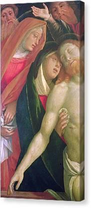 The Dead Christ With The Virgin And Saints Canvas Print by Gaudenzio Ferrarri