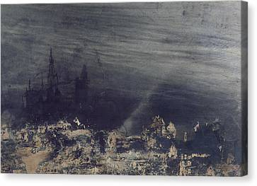 The Dead City Canvas Print by Victor Hugo