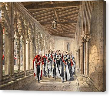 The Deans Cloister, Windsor, 10th Canvas Print by English School