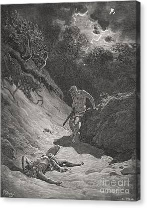 The Death Of Abel Canvas Print by Gustave Dore