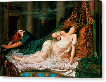 The Death Of Cleopatra Canvas Print by Reginald Arthur