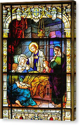 The Death Of St Monica St Augustine Canvas Print by Christine Till